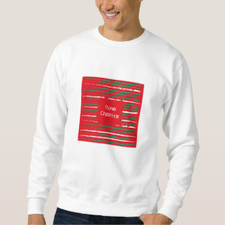 Xmas Grunge Stripes red Sweatshirt