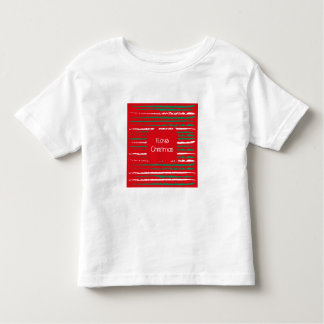 Xmas Grunge Stripes red Toddler T-shirt