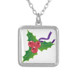 Xmas Holly Custom Necklace