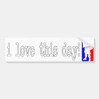 (xmas) i love this day! bumper sticker