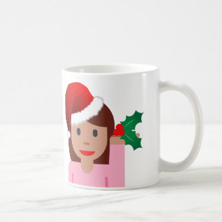 xmas information girl emoji coffee mug