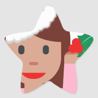xmas information girl emoji star sticker