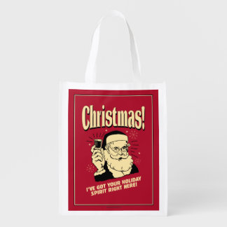 Xmas: I've Got Your Holiday Spirit Right Here Market Tote