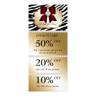 Xmas Jewel Spa Marketing Cards Zebra Gold Red