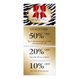 Xmas Jewels Spa Marketing Cards Zebra Gold Red