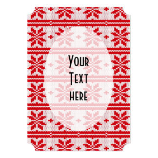 Xmas knitting seamless pattern 1 + your ideas card