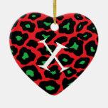 Xmas Leopard Ornament