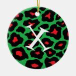 Xmas Leopard Ornaments