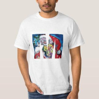 XMAS M LETTER /SANTA  CLAUS WITH VIOLIN MONOGRAM T-Shirt