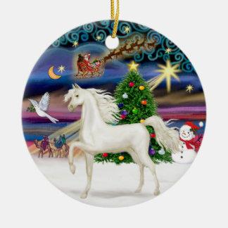 Xmas Magaic - Arabian Horse (white) Ceramic Ornament