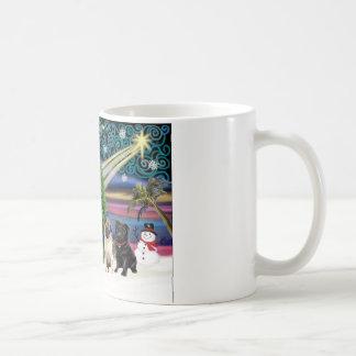 Xmas Magic-3Pugs 2fawn-1blk Coffee Mug