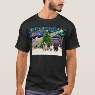 Xmas Magic-3Pugs-2fawn-1blk T-Shirt