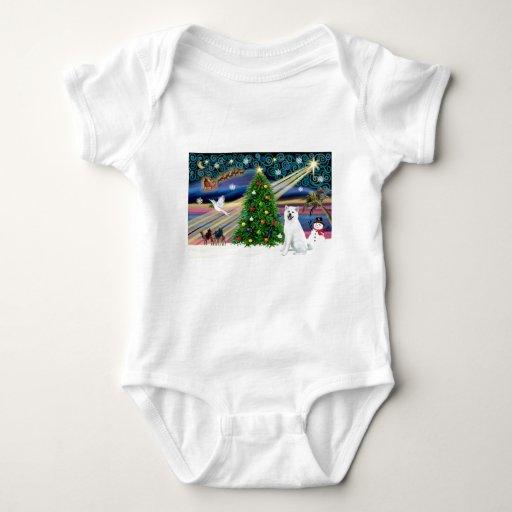 Xmas Magic-Akita White1 Tee Shirts