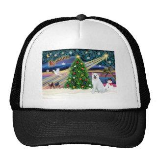 Xmas Magic-Akita White1 Trucker Hat