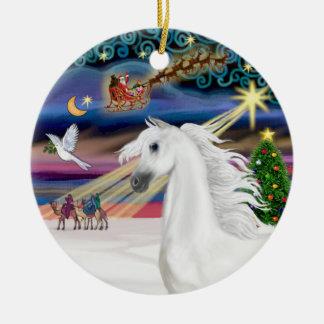 Xmas Magic - Arabian Horse 1 Ceramic Ornament