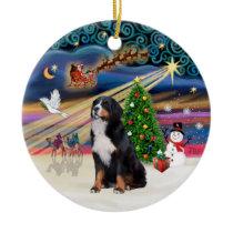 Xmas Magic - Bernese Mountain Dog 2 Ceramic Ornament