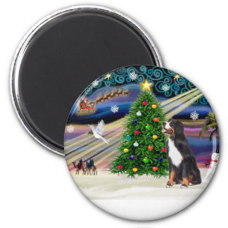 Xmas Magic-Bernese Mountain Dog Magnet