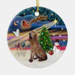 Xmas Magic - Bloodhound Ceramic Ornament
