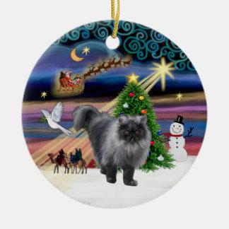 Xmas Magic - Blue Smoke Persian cat Ornaments