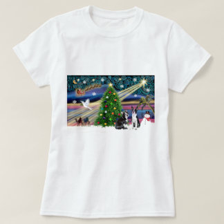 Xmas Magic-BostonTerrier Pair T-Shirt
