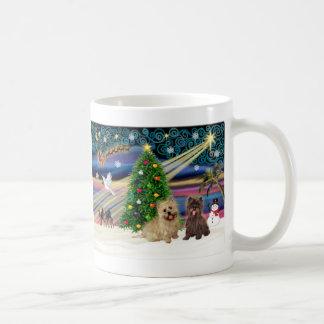 Xmas Magic-Cairn Pair-wheatn+brindle Coffee Mug