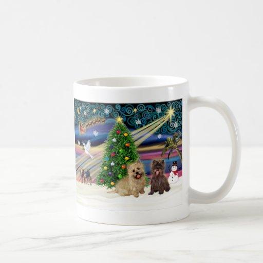 Xmas Magic-Cairn Pair-wheatn+brindle Mug