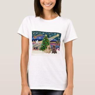 Xmas Magic-Cairn Pair-wheatn+brindle T-Shirt