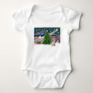 Xmas Magic-Cairn wheaten Baby Bodysuit