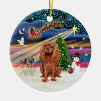 Xmas Magic - Cavalier (ruby 11) Christmas Tree Ornaments