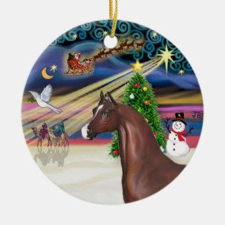Xmas Magic - Chestnut Horse Ceramic Ornament