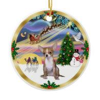 Xmas Magic - Chihuahua1 Christmas Tree Ornaments