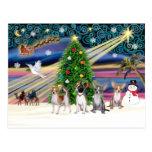 Xmas Magic-Chihuahua Quad - Customized Postcard