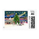 Xmas Magic-Chihuahuas (four) Postage Stamp