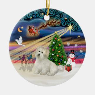Xmas Magic - Coton de Tulear Ceramic Ornament