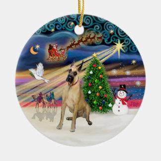 Xmas Magic - Fawn Great Dane #20 (sit) Ceramic Ornament