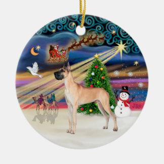 Xmas Magic - Fawn Great Dane stand Ornaments