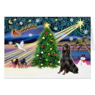 Xmas Magic-Gordon Setter Card