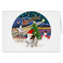 Xmas Magic - Guinea Pig 1( hat) Card