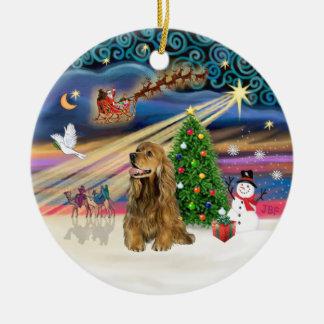 Xmas Magic - Honey Brown Cocker Spaniel Ceramic Ornament