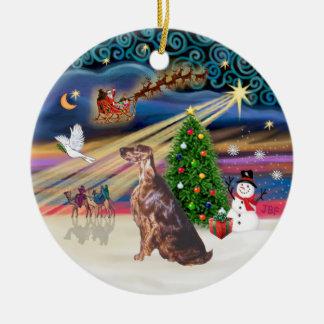 Xmas Magic - Irish Setter Ornaments