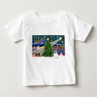 Xmas Magic-Jack Russell pup Baby T-Shirt