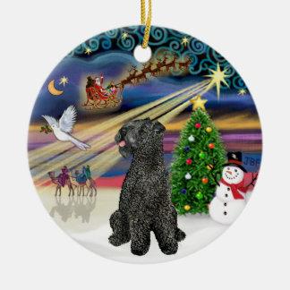 Xmas Magic - Kerry Blue Terrier Ceramic Ornament