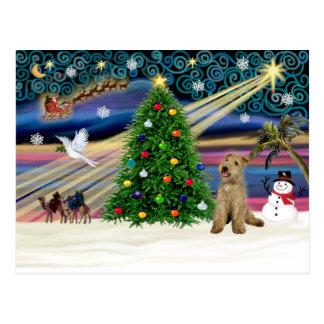 Xmas Magic-Lakeland Terrier Postcard