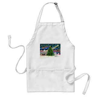 Xmas Magic-Maltese-cutie Adult Apron
