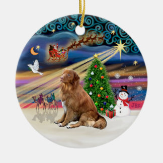 Xmas Magic - Nova Scotia Duck Tolling Retriever Christmas Tree Ornament