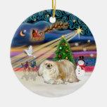 Xmas Magic - Pekingese (cream) Christmas Tree Ornament