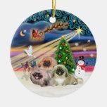 Xmas Magic - Pekingese (Three) Ornaments