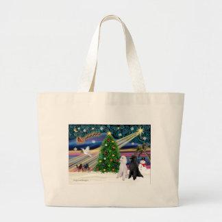 XMAS MAGIC-Poodle ST-Pair2 Large Tote Bag