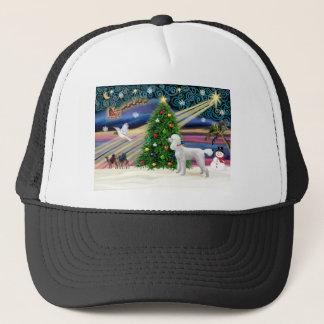 Xmas Magic-Poodle-Std-Wht Trucker Hat