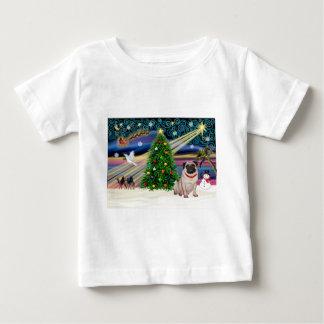 Xmas Magic-Pug-fawn- Baby T-Shirt
